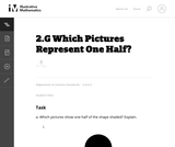 Which Pictures Represent One Half?
