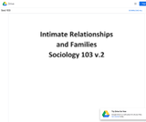 Intimate Relationships and Families