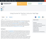 Using MyClassroom for Teachers: Instructor Help Page