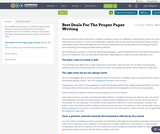 Best Deals For The Proper Paper Writing