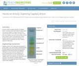 Exploring Capillary Action