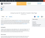 Using MyClassroom for Students: Student Help Page