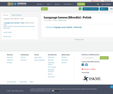 Language Lesson (Moodle) - Polish