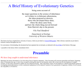 A Brief History of Evolutionary Genetics