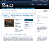 ASMET 7: Detecting Clear Air Turbulence: South African Case Study