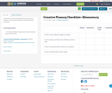 Creative Fluency Checklist—Elementary