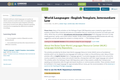 World Languages - English Template, Intermediate Low