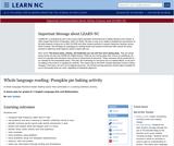 Whole Language Reading: Pumpkin Pie Baking Activity