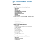 Legal Aspects of Marketing and Sales