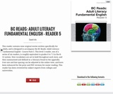 BC Reads: Adult Literacy Fundamental English – Reader