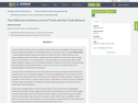 The Difference between Level of Trade and the Trade Balance