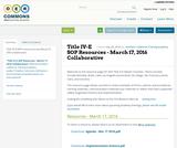 Title IV-E SOP Resources - March 17, 2016 Collaborative