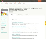 Foundation and Leadership Public Schools, College Access Reader: Geometry - Lesson Plans and Exams