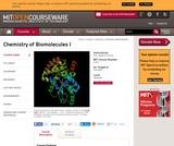 Chemistry of Biomolecules I, Fall 2005