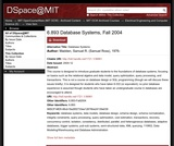 Database Systems, Fall 2004