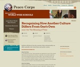 """Recognizing How Another Culture Differs From One's Own - Lesson 1 for """"The Meaning of Time"""""""