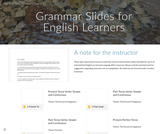 Grammar Slides for English Learners
