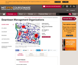 Downtown Management Organizations, Fall 2006