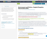 Government and Politics - English Template, Intermediate Mid