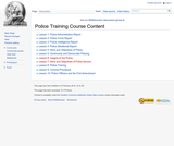 Police Training Course Content