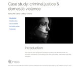 Case study: criminal justice & domestic violence