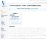 Autonomic Nervous System - Anatomy & Physiology