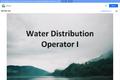 Water Distribution Operator I