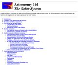 Astronomy 161-The Solar System