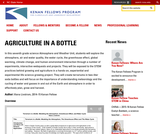 Agriculture in a Bottle