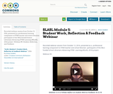 SLASL Module 5: Student Work, Reflection & Feedback Webinar