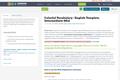 Colorful Vocabulary - English Template, Intermediate-Mid