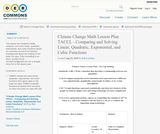 Climate Change Math Lesson Plan TACCL - Comparing and Solving Linear, Quadratic, Exponential, and Cubic Functions