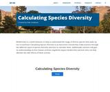 Calculating Species Diversity