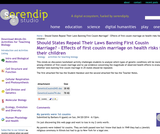 Should States Repeal Their Laws Banning First Cousin Marriage?