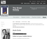 The Great Gatsby by F. Scott Fitzgerald - Audio Page