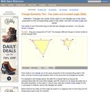 SAS Triangle similarity test