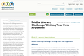 Media Literacy Challenge: Writing Your Own Argument