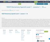 TEESP Elementary Spanish Level 1 - Lessons 1 - 18