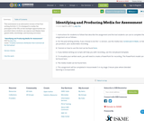 Identifying and Producing Media for Assessment
