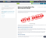 Rules to Consider Before You Move Abroad to Study