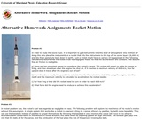 Activity Based Physics Alternative Homework Assignments: Rocket Motion