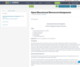 Open Educational Resources Assignment