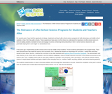 The Relevance of After-School Science Programs for Students and Teachers Alike