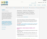 Summary, Analysis, Response: A Functional Approach to Reading, Understanding, and Responding to Nonfiction