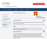 Athabasca University Open Access Resources Guide