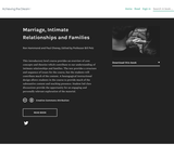 Marriage, Intimate Relationships and Families