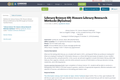 Library Science 101: Honors Library Research Methods (Syllabus)