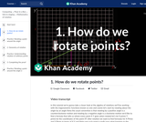 1. How do we rotate points?