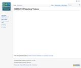 OER 2011 Meeting Videos