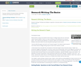 Research Writing: The Basics